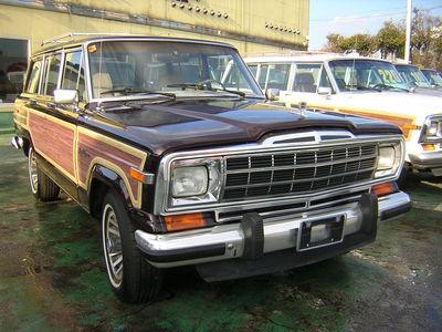 1990年式 ジープグランドワゴニア4WD Bチェリー/ベージュ